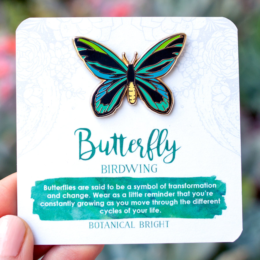 Birdwing Butterfly Enamel Pin