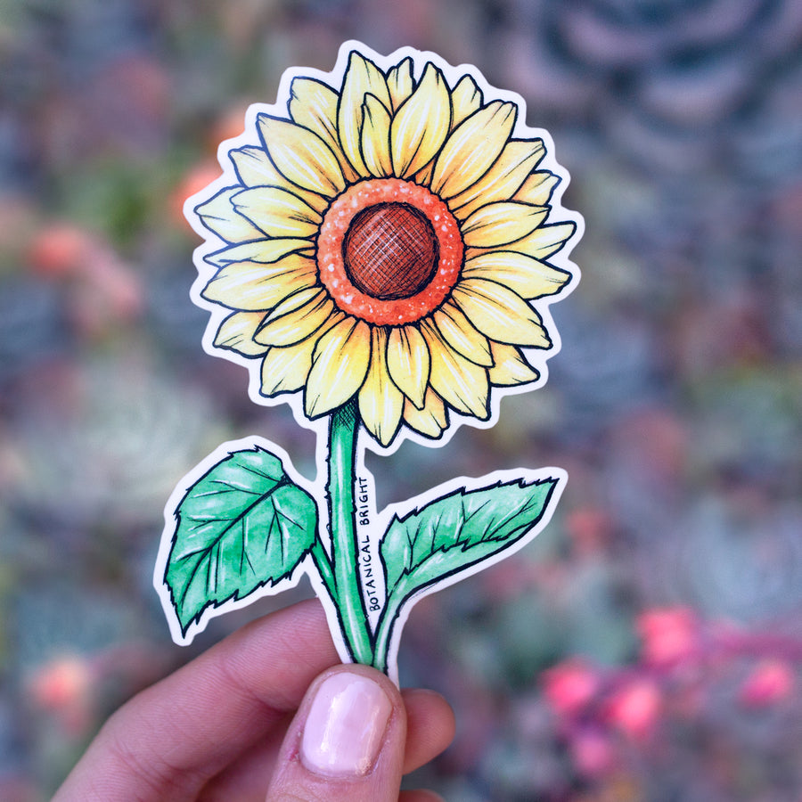 Sunflower Vinyl Sticker
