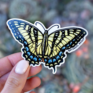 Swallowtail Butterfly Vinyl Sticker