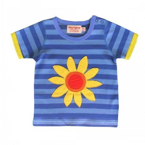 Stripy Sunflower T-Shirt