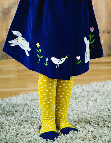 Frugi Tamsyn Tights - Gorse Spot - Organic Cotton