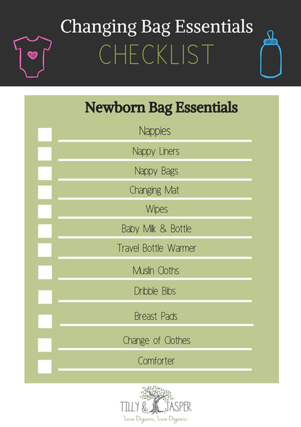 newborn changing bag essentials
