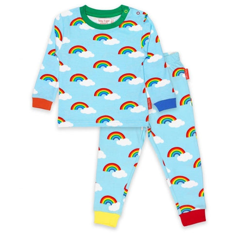 Toby Tiger Rainbow Pyjamas - Organic Cotton