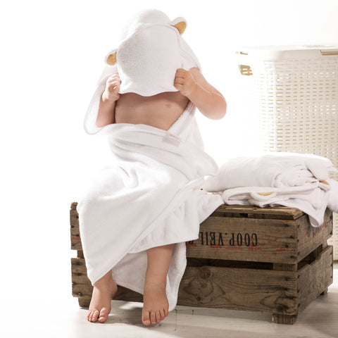 100% Bamboo hooded baby towel by Tilly & Jasper