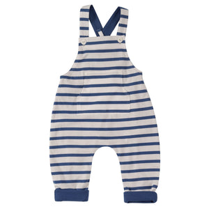 Pigeon Organics Reversible Jersey Dungarees - Delft Blue