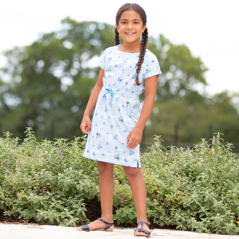 Kite Stripy Ditsy Tie Dress