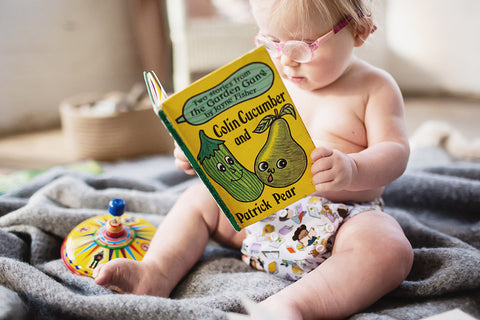 Baba & Boo One Size Nappy - Bookworm