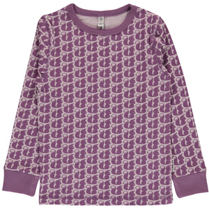 Maxomorra Long Sleeve Top - Squirrel