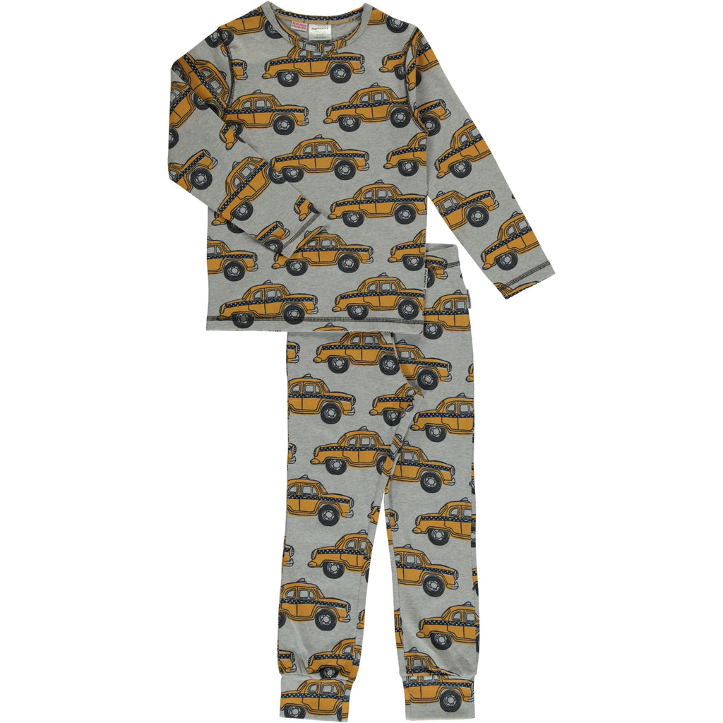 Maxomorra Long Sleeve Pyjama Set - Taxi