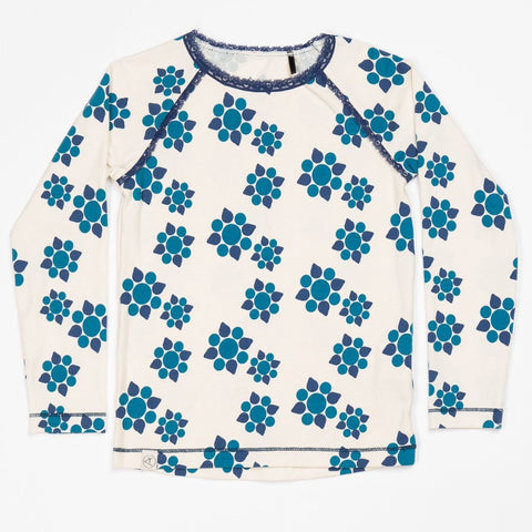 Image of Alba Ghita Blouse - Antique White Wild Flower - Organic Cotton