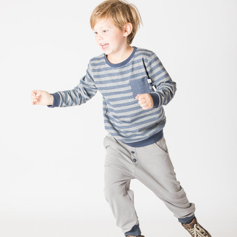 Image of Alba Jais Sweatshirt - Mood Indigo Striped - Tilly & Jasper