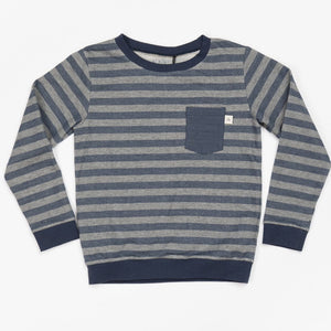 Alba Jais Sweatshirt - Mood Indigo Striped - Tilly & Jasper