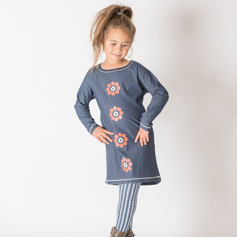 Alba Isla Dress - Mood Indigo - Organic Cotton