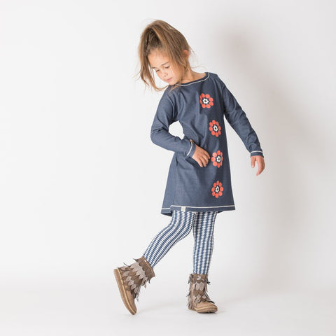 Image of Alba Isla Dress - Mood Indigo - Tilly & Jasper