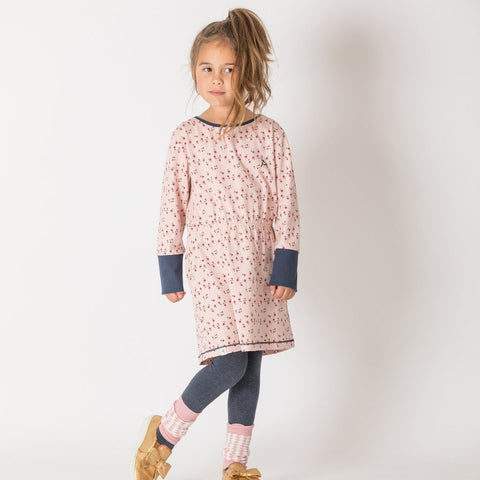 Image of Alba Elisabeth Dress - Misty Rose Wildflower - Tilly & Jasper