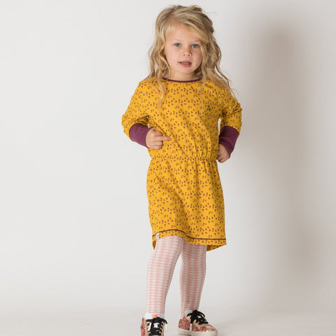 Alba Elisabeth Dress - Gold Wildflower - Tilly & Jasper