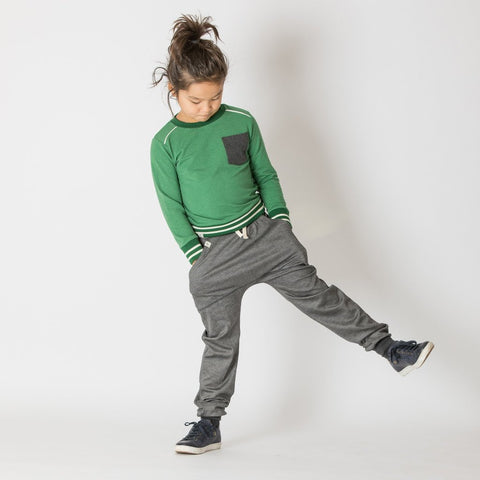 Image of Alba Jacob Sweatshirt - Juniper Melange - Tilly & Jasper