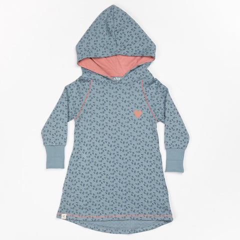 Image of Alba Linh Hood Dress - Citadel Wild Flower - Organic Cotton