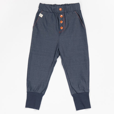 Image of Alba Hai Button Trousers - Mood Indigo