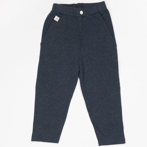Alba Kirk Trousers - Mood Indigo Melange - Organic Cotton