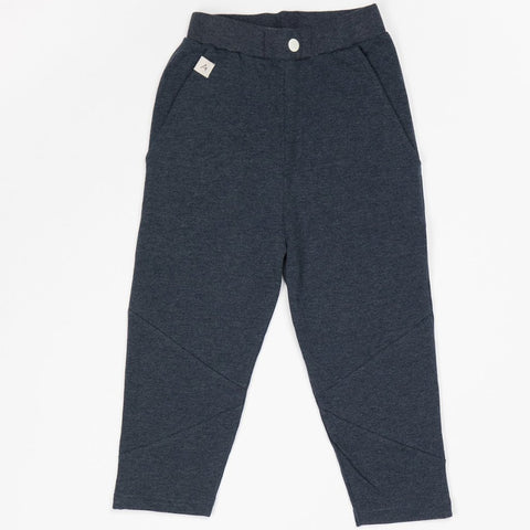 Image of Alba Kirk Trousers - Mood Indigo Melange - Tilly & Jasper