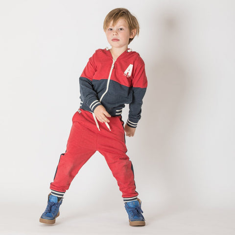 Image of Alba Thomas Trousers - Chilli Pepper Melange - Organic Cotton