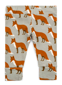 Organic Cotton Leggings - Orange Fox