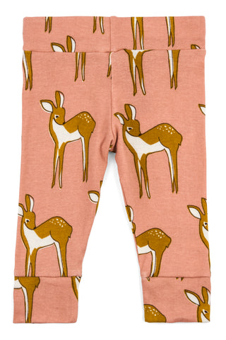 Image of Organic Cotton Leggings - Rose Deer