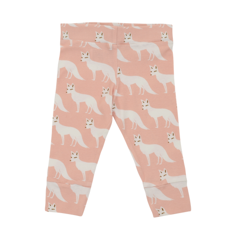 Organic Cotton Leggings - Pink Fox