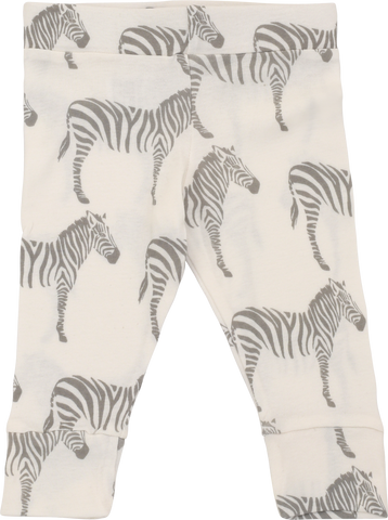 Organic Cotton Leggings - Grey Zebra