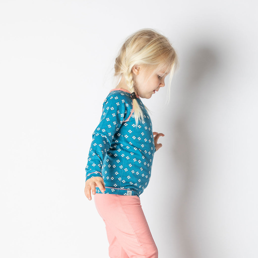 Alba Ghita Top - Seaport Mini Hearts - Tilly & Jasper