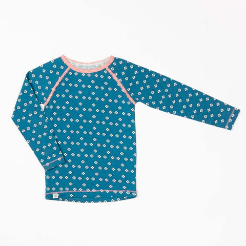 Image of Alba Ghita Top - Seaport Mini Hearts - Tilly & Jasper