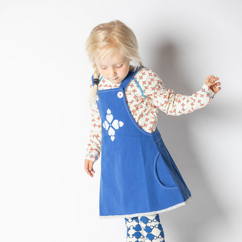 Alba Mary Spencer Dress - Solidate Blue - Tilly & Jasper