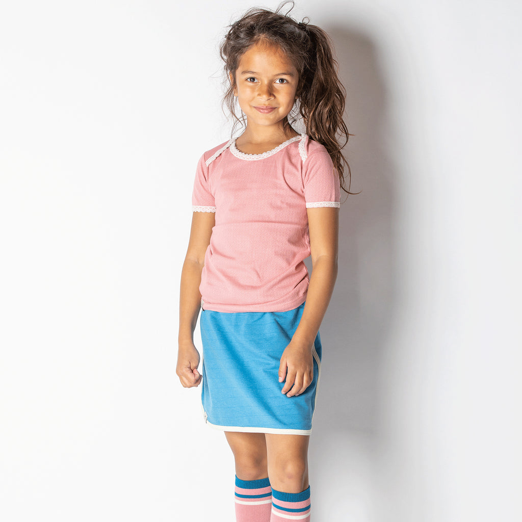 Alba Vera T-shirt - Apricot Adorable Tiles - Tilly & Jasper