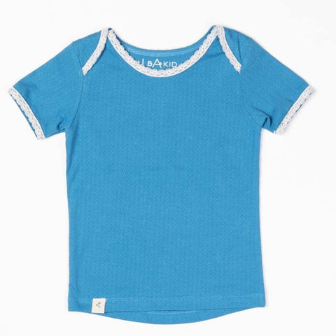 Image of Alba Vera T-shirt - Vallarta Blue Adorable Tiles - Tilly & Jasper
