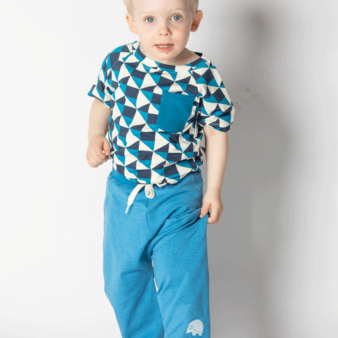 Alba Lucca Baby Pants - Vallarta Blue - Tilly & Jasper