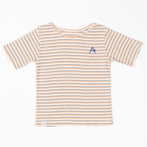 Alba Gate T-shirt - Rust Striped - Tilly & Jasper