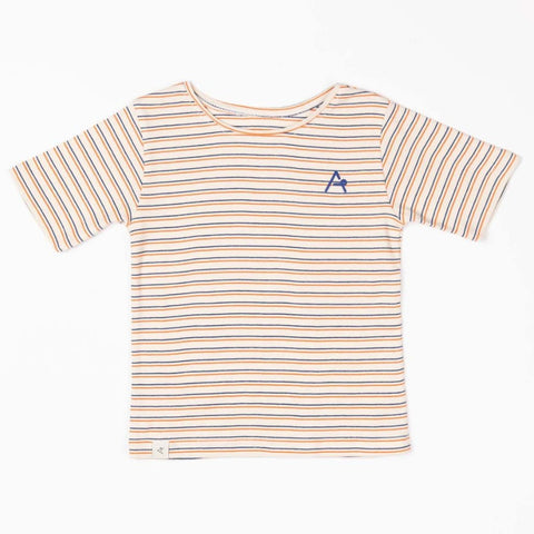Image of Alba Gate T-shirt - Rust Striped - Tilly & Jasper