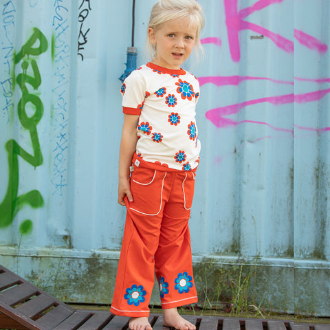 Alba Caroline Flower Pants - Orange