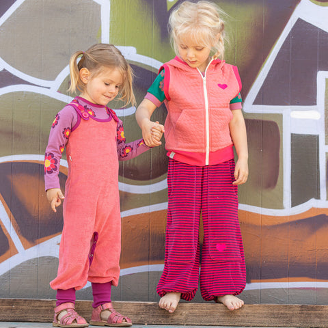 Image of Alba Hobo Baggy Pants - Raspberry Magic Strip