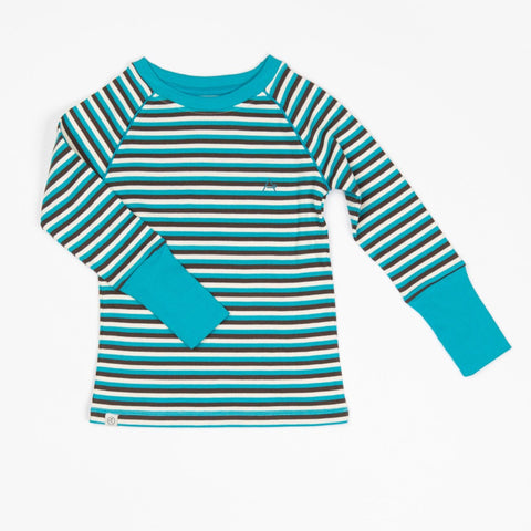 Alba Our Favorite Rib Blouse - Algiers Blue Stripes