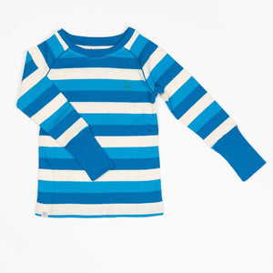 Alba Our Favorite Rib Blouse - Snorkel Blue Stripes