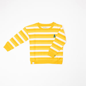 Alba Sean Sweat - Daffodil Stripes