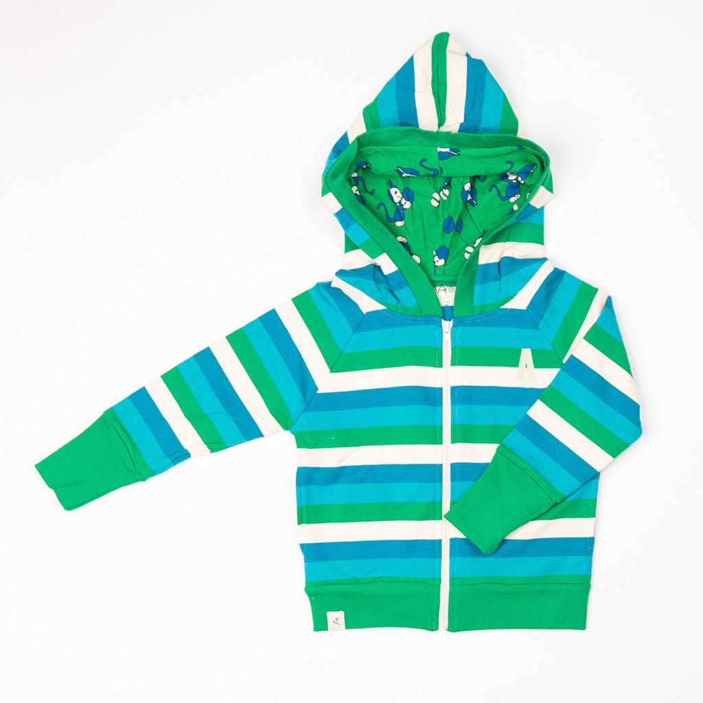 Alba Alltime Zipper Hood - Jelly Bean Stripes