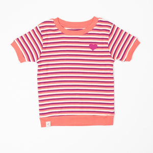 Alba Alberte T-shirt - Sun Kissed Stripes Liberty Love