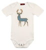 Image of Organic Applique One Piece - Blue Stripe Buck