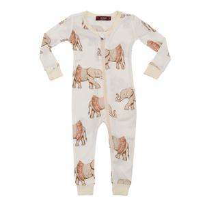 Organic Bamboo Toddler Pyjama with Tutu Elephant design