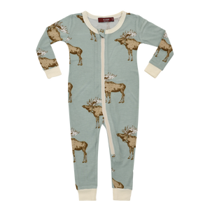 Organic Bamboo Toddler Pyjama with Blue Moose design