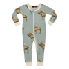 Image of Bamboo Zipper Pyjama - Blue Moose