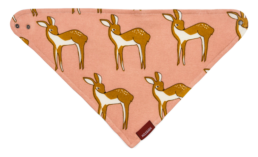 Organic Cotton Kerchief Bib - Rose Doe